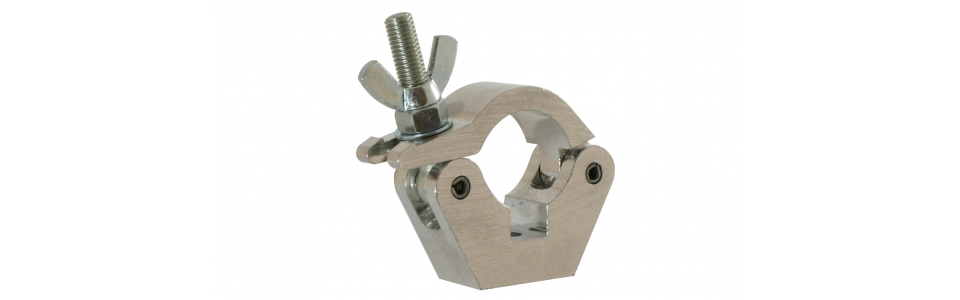 Doughty Half Coupler Slimline Clamp, Self-colour