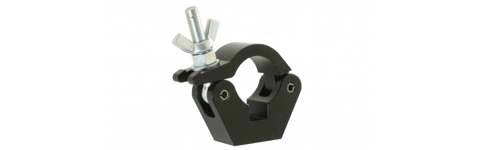 Doughty Half Coupler Slimline Clamp, Powder Coated Black
