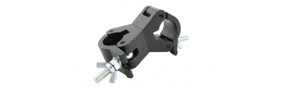 Doughty Swivel Coupler Clamp, Powder Coated Black