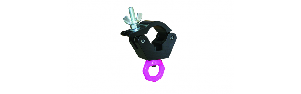 Doughty Half Coupler Hanging Clamp, Powder Coated Black 750kg
