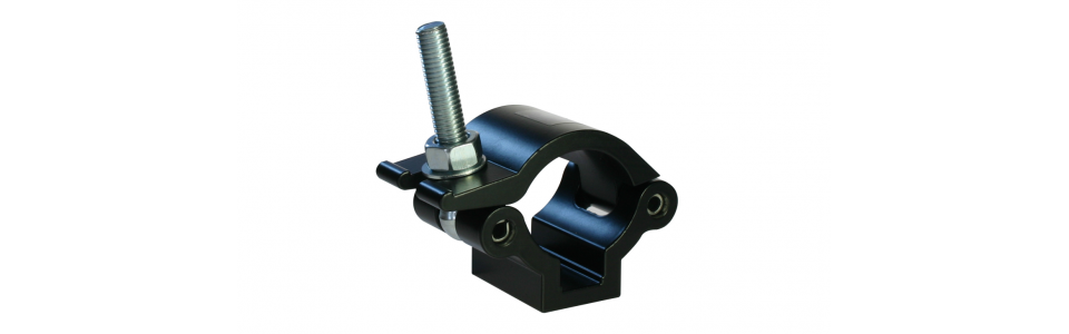 Doughty Half Coupler Lightweight Clamp, Powder Coated Black
