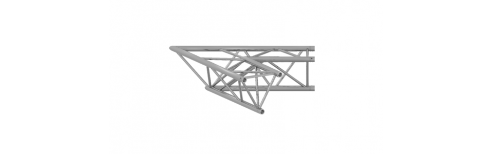 Prolyte Triangular 40 Series 2-Way Corner, 45 Degree