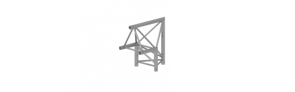 Prolyte Triangular 40 Series 2-Way Corner Apex Up, 90 Degree