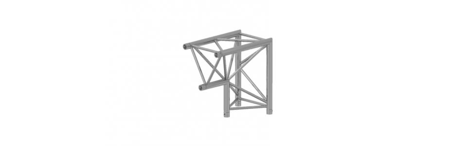 Prolyte Triangular 40 Series 2-Way Corner Apex Down, 90 Degree