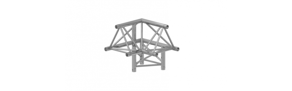 Prolyte Triangular H40 Series 3-Way Corner, Right Apex Up