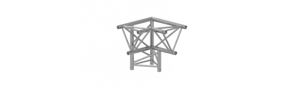 Prolyte Triangular H40 Series 3-Way Corner, Left Apex Down