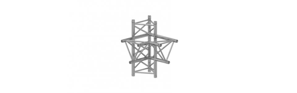 Prolyte Triangular 40 Series 4-Way Corner, Left Apex Down