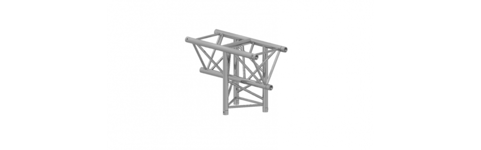 Prolyte Triangular H40 Series 3-Way Corner, Vertical Tee