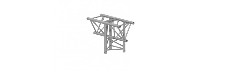 Prolyte Triangular H40 Series 3-Way Corner, Vertical Tee