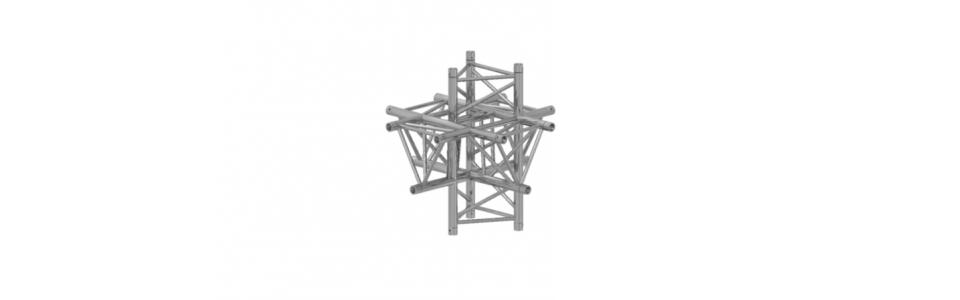 Prolyte Triangular 40 Series 6-Way Corner