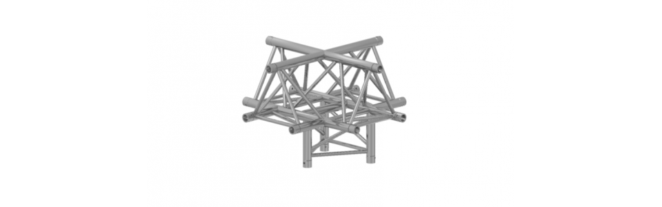 Prolyte Triangular 40 Series 5-Way Corner, Apex Up