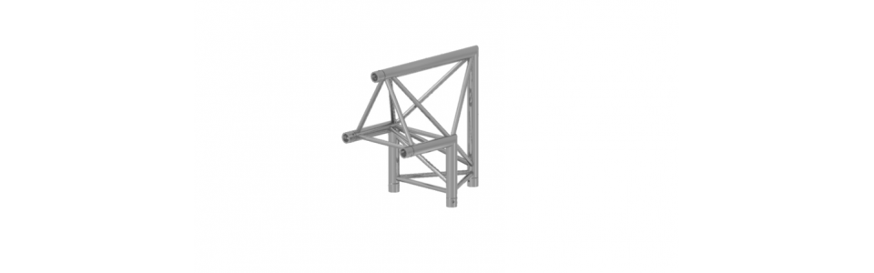 Prolyte Triangular 30 Series 2-Way Corner Apex Up, 90 Degree