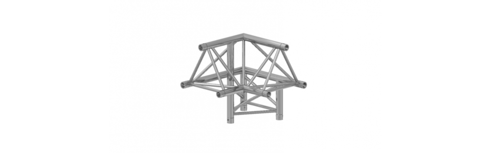 Prolyte Triangular X30 Series 3-Way Corner, Right Apex Up