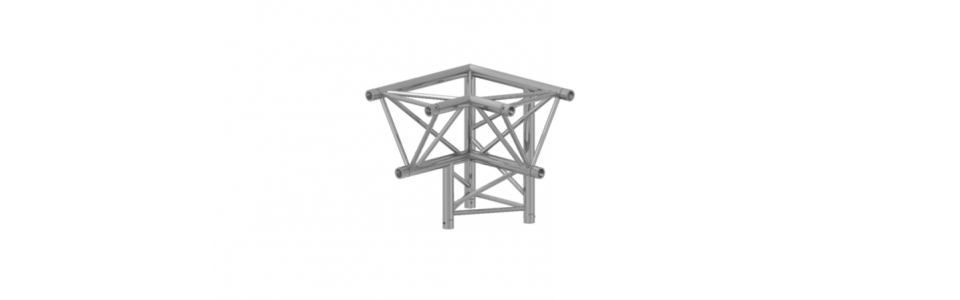 Prolyte Triangular X30 Series 3-Way Corner, Right Apex Down