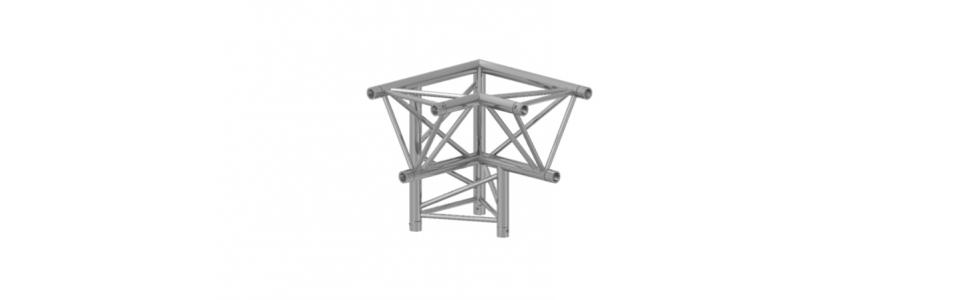 Prolyte Triangular X30 Series 3-Way Corner, Left Apex Down