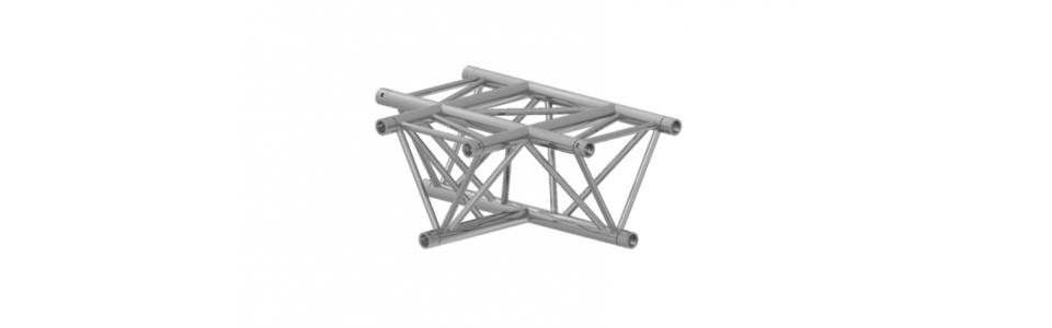 Prolyte Triangular X30 Series 3-Way Corner, Horizontal Tee