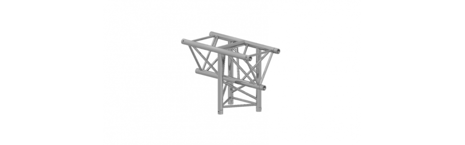 Prolyte Triangular X30 Series 3-Way Corner, Vertical Tee