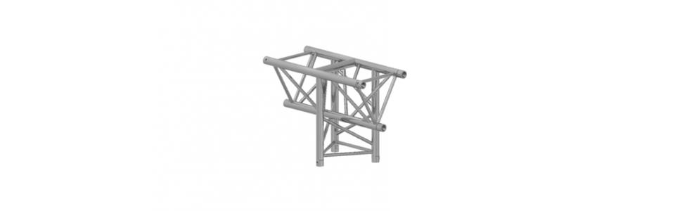 Prolyte Triangular X30 Series 3-Way Corner, Vertical Tee